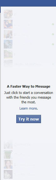 New style facebook chat
