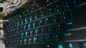 ProLink PKB-3811U keyboard. Backlight 1 Cyan